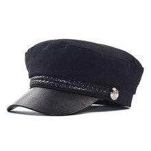 Кепи картуз женский фуражка кепка женская берет кожаный шляпы женские Модные женские восьмиугольная шляпа Для женщин s армейские кепки Весна Для женщин летние шапки берет военных Для женщин s шляпа кожаные кепки