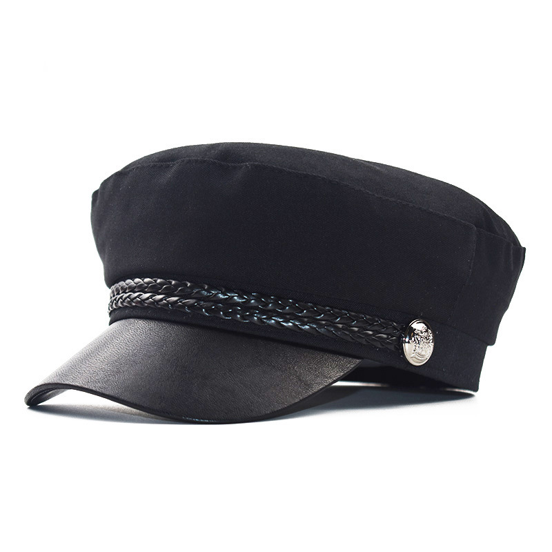 2019 Fashion Ladies Octagonal Hat Womens Military Hats Spring Women Summer Caps Beret Military Womens Hat Leather Caps