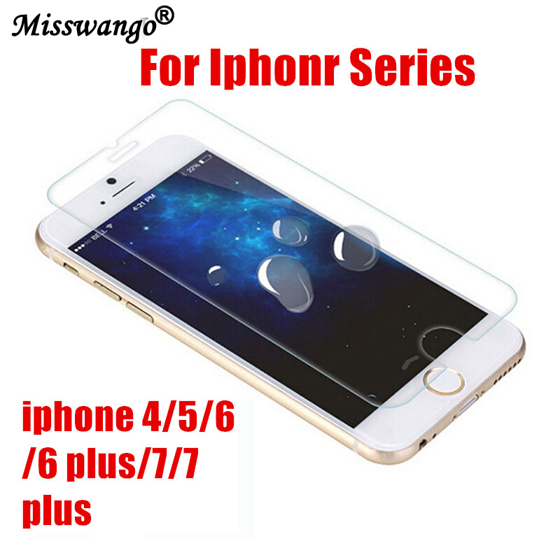screen protector film iPhone 4 7 Plus 7 5 Glass Tempered glass protection 6