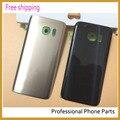 Оригинал Для Samsung GALAXY S7 G930 SM-G930 Заднее Стекло Задняя Крышка Крышка Батарейного Отсека Корпуса Case Замена с логотипом