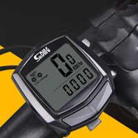 Digital Multifunction Odometer Wired Sensor Accessories Black Clock Cycling Computer Waterproof Bicycle Speedometer Thermometer