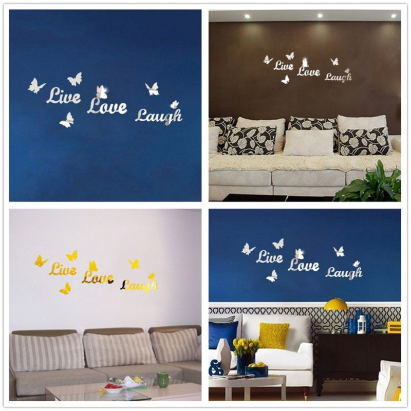 Popular mirror wall letters buy cheap mirror wall letters for Living room 6 letters