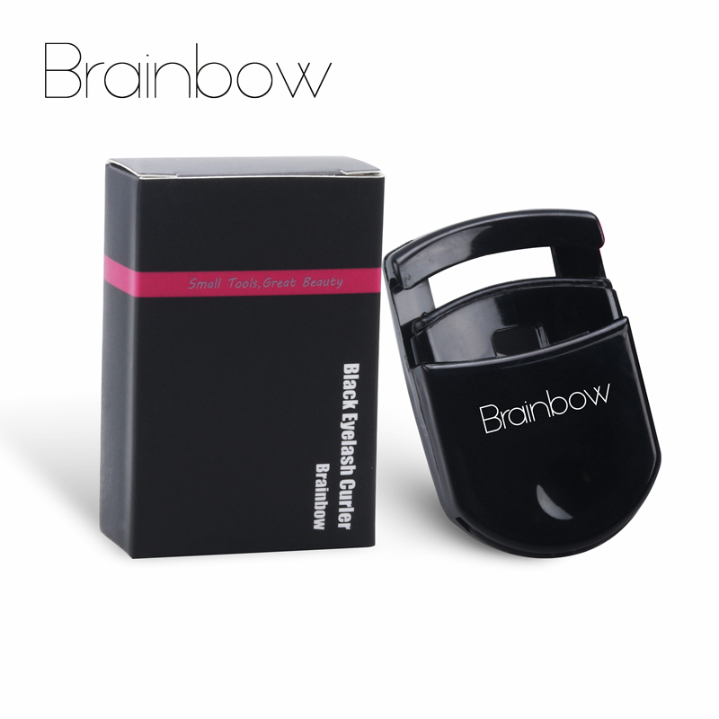 Brainbow 1pc Black <font><b>Eyelash</b></font> Curler Plastic Portable Eye Lash Curler Natural Curling 3D Fiber <font><b>Eyelashes</b></font> <font><b>Applicator</b></font> Eye Makeup Tool image