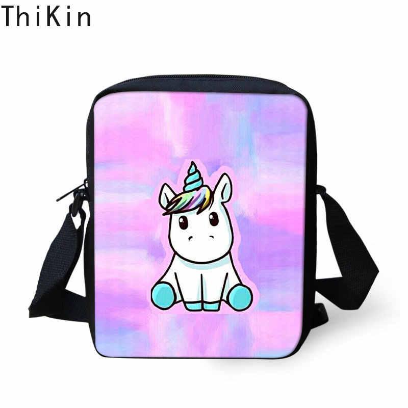 Тикин милые единороги розовая краска сумка-мессенджер для девочек Мини женские модные сумки Детская плечевая Сумка Популярный светильник школьный Bog