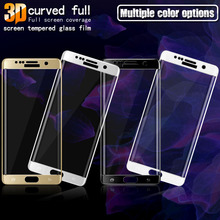 3D Curved Full Coverage Tempered Glass For Samsung Galaxy S8 Plus Note 8 J3 J5 J7 A3 A5 A7 2017 S6 S7 Edge Screen Protector Film
