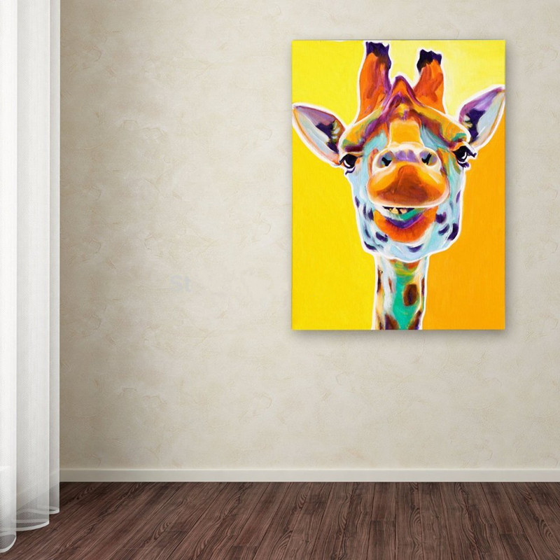 Hand Painted Abstract Animal Oil Paintings on Canvas Large Knife ...