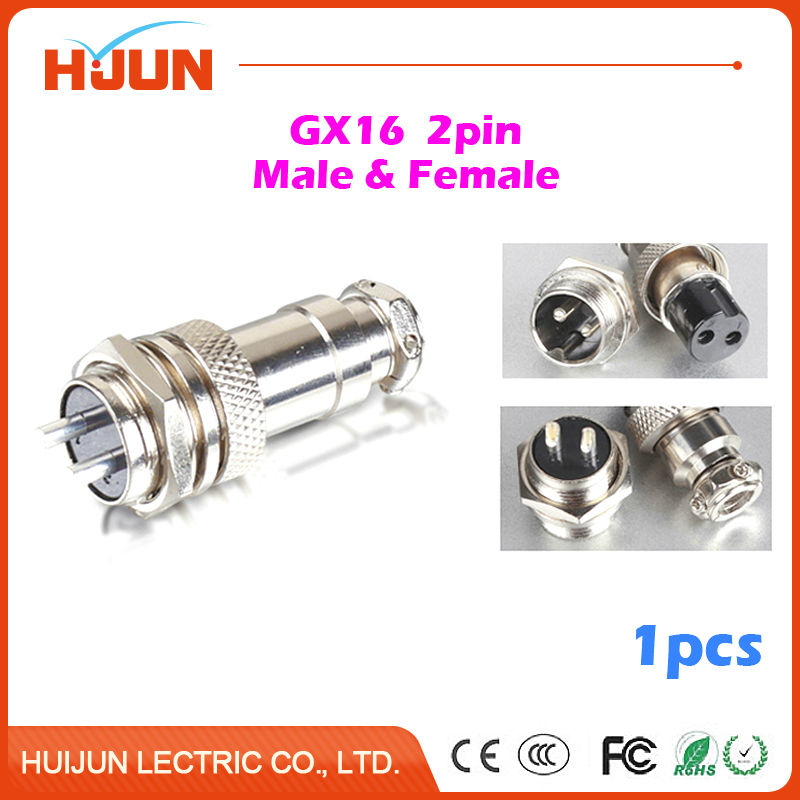 1pcs GX16 2Pin High Quality Male& Female 16mm Wire Cable Panel Connector Aviation Plug Circular Socket Plug original for hp touchsmart 23 all in one pc motherboard pn 732130 002 ipshb la 100% test ok