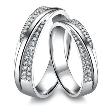0.28 Carats I-J/SI Luxury Slant Studded  Couple's  Diamond Wedding Bands 1