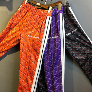 Hip Hop Striped Joggers Orange Black Palm Angels Sweatpants