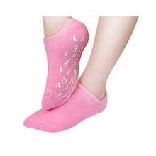 1pair/lot reusable  Gel Socks  Moisturizing whitening exfoliating velvet smooth beauty hand foot care silicone socks Z19201
