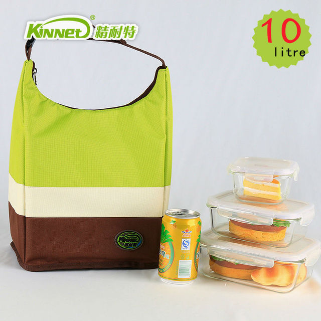 KinNet изоляцией обед мешок для женщин красивая мода тепловой мешок прохладный пакет 10L водонепроницаемый алюминиевой фольги портативный сухой пакеты со льдом