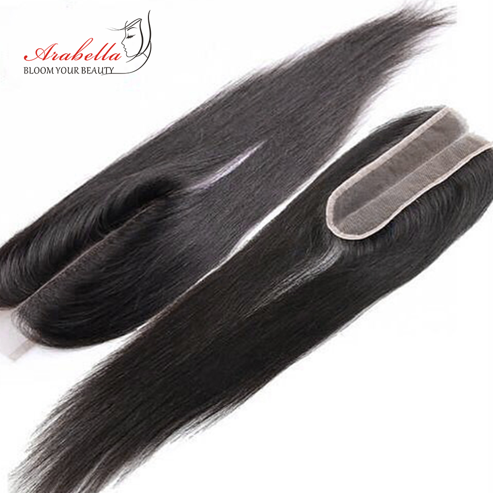 2x6 Kim K Brazilian Straight Hair Lace Closure Pre Plucked Bleached Knots Kim K Middle Part With Baby Hair Remy Closure Arabella 3