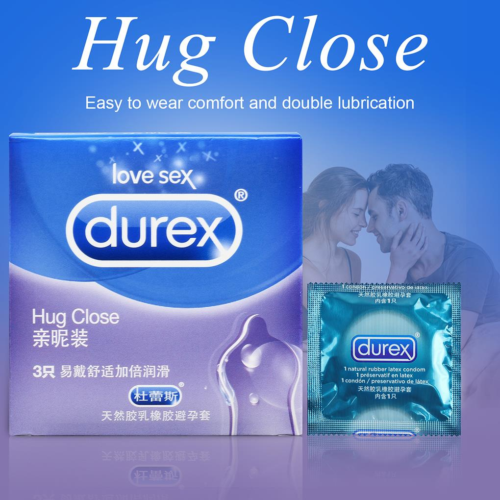 9PCS Durex Extra Lubricated Condom Male Sex Products Transparent Condoms Natural Rubber Latex Penis Sleeve Sex For Men