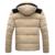 SOFIBERY Coats & Jackets Homens Down & Parkas Moda Inverno casacos & casacos dos homens dos homens Além de veludo de algodão com capuz destacável casaco