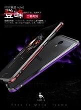Luphie бренд супер алюминиевый бампер чехол для Meizu meilan Примечание 5 роскошные металла границы мобильного телефона чехол для Meizu M5 Примечание случае