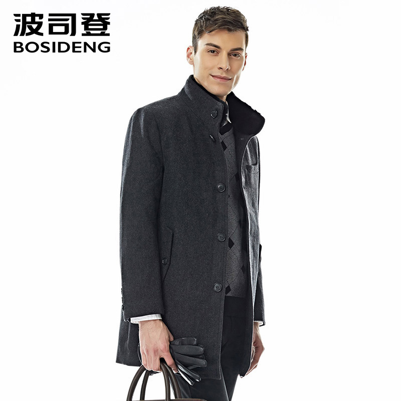 Down Jackets Jackets & Coats 100% True Bosideng Winter Men Down Jacket Stand Collar Smart Casual Down Coat Mid-long 90% White Duck Down Parka High Quality B1401129 Aesthetic Appearance