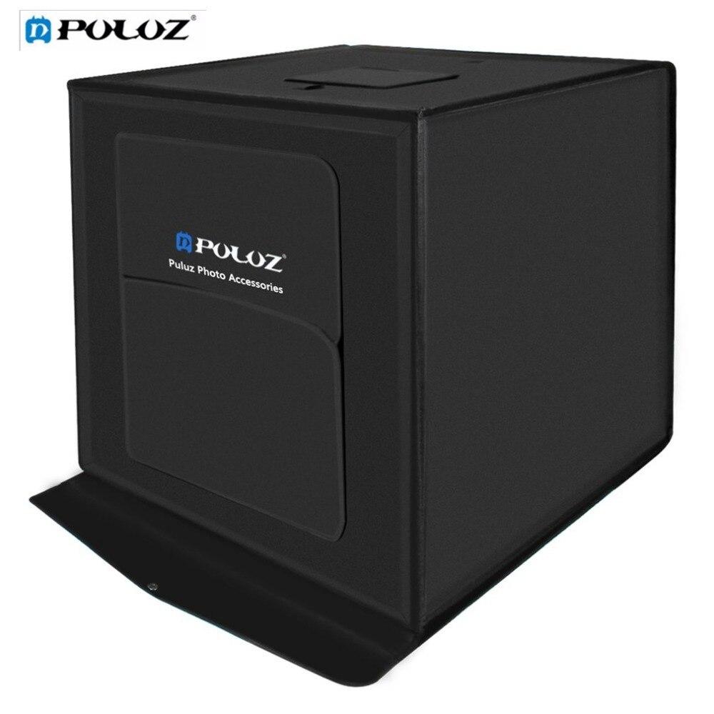 PULUZ 60*60 см световая коробка мини фотостудия фотография коробка складная софтбокс 60 Вт светодио дный светодиодное освещение студия тент для ...