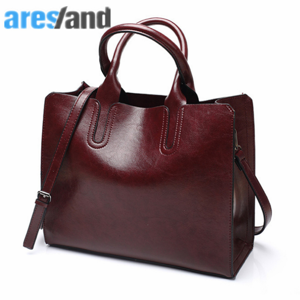 Vintage Women Handbag Leather 2017 Women Tote Bags Large Capacity Single Shoulder Bag Ladies Handbags - Wine Red разъем xlr neutrik nc4fxx