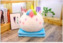 WYZHY ins twin unicorn doll cuddly pillow blanket plush toy girl heart nap air conditioning 40CM