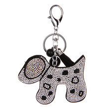 YD&YDBZ 2019 Cute Dog Key Keychain For Women Fashion Kwaii Jewelry Car Key Ring Brown Pink Silver Red 4 Color Handbag Keychains(China)