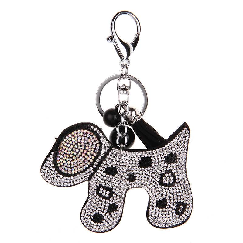 YD & YDBZ 2019 น่ารักสุนัขคีย์พวงกุญแจสำหรับแฟชั่นผู้หญิง Kawaii เครื่องประดับแหวนสีน้ำตาลสีชมพูเงินสีแดง 4 สีกระเป๋าถือพวงกุญแจ