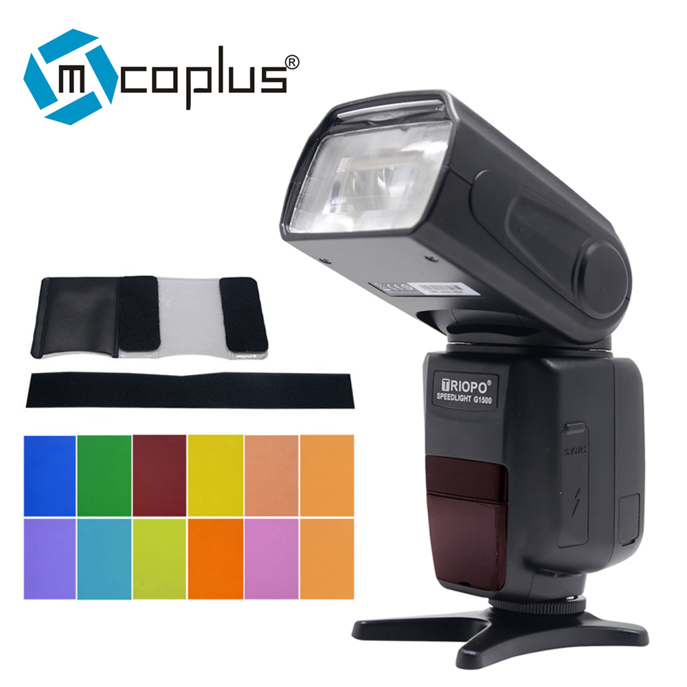 Mcoplus BG-1500 1/8000s TTL 2.4G Wireless Speedlite Flash for Sony Mirrorless Camera A7 A7R A7S A7II A77II A6000 NEX-6 A58 A99 retro industrial lid pendant light personality european style led hanging lamp loft edison lamp for living room coffee shop