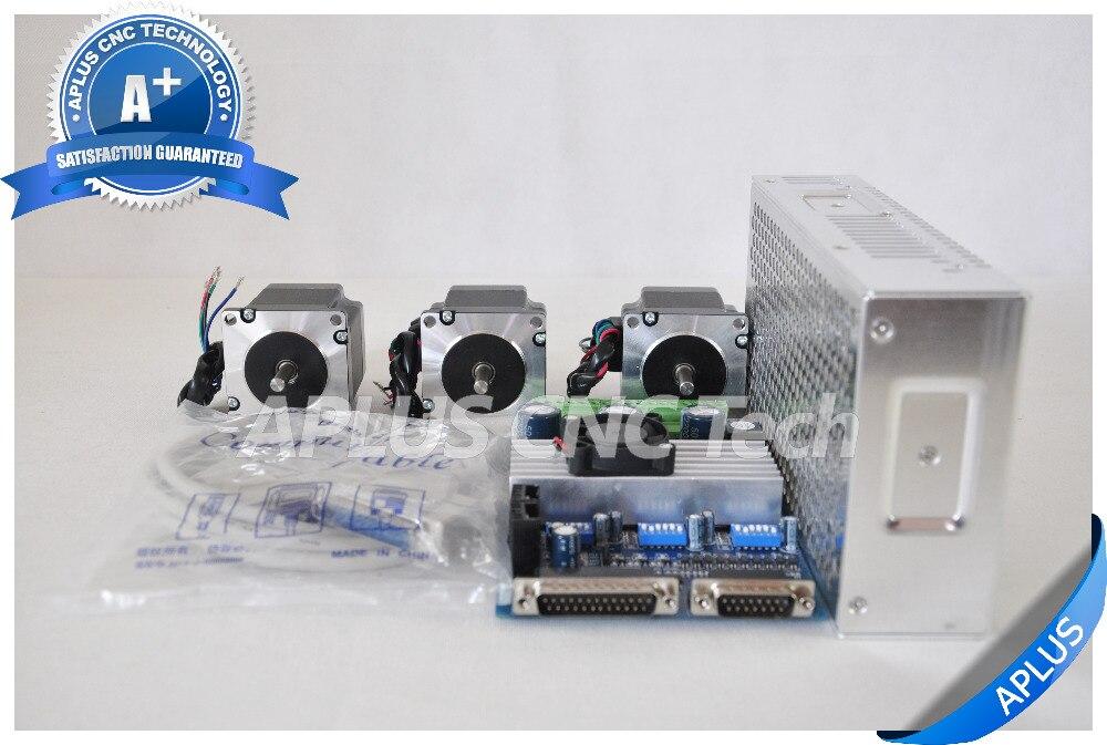 3 axis cnc kit nema 23 155oz in stepper motor tb6560 for 3 axis nema 23 stepper motor driver controller cnc kit