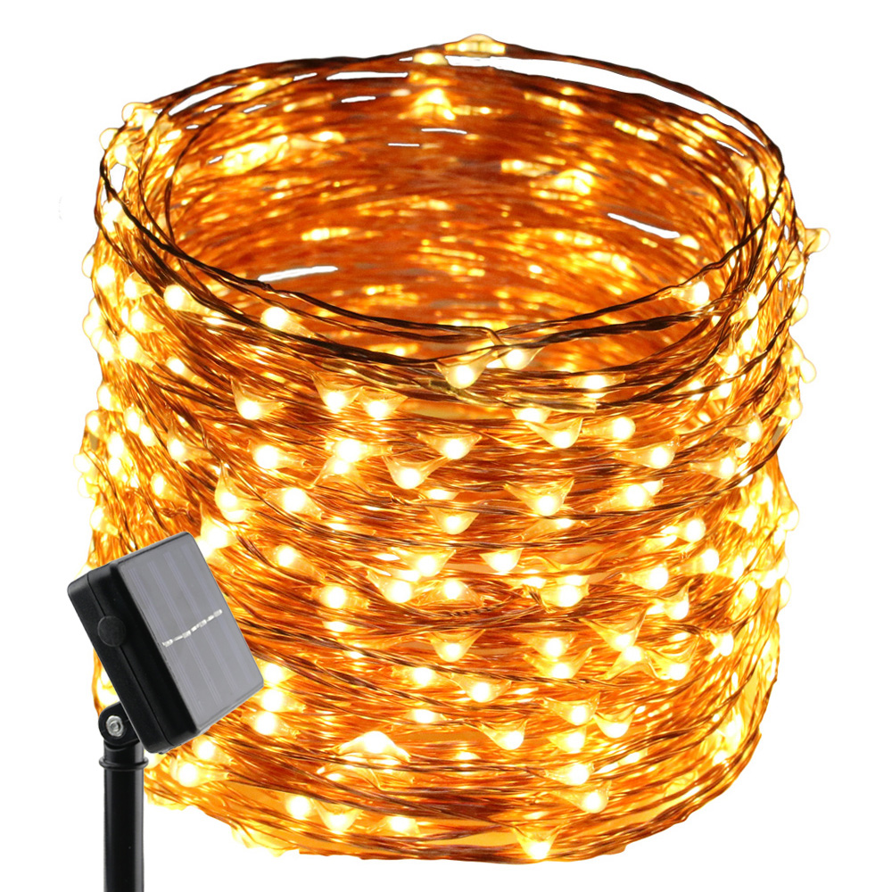 10M/20M/30/50M Solar Power 100/200/300/500 LED Christmas Tree Garland Fairy String Lights Chain Home Outdoor Christmas Deco
