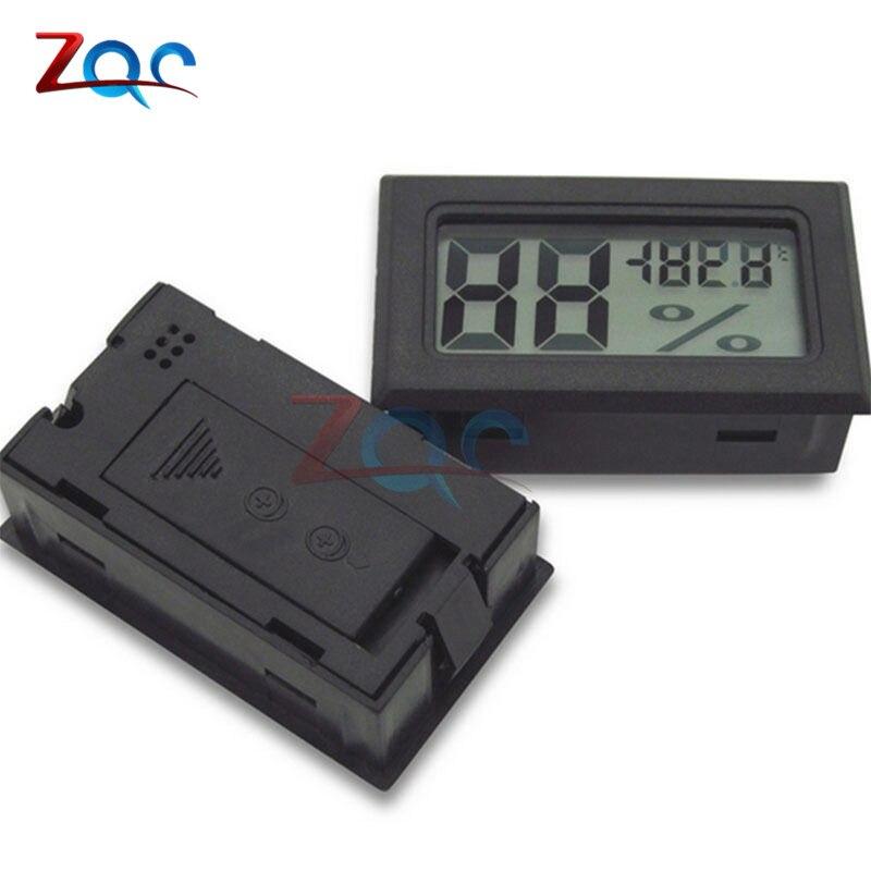 Black Mini LCD Digital Thermometer Hygrometer Temperature Indoor Convenient Temperature Sensor Humidity Meter Gauge Instruments cigar box shape 1 0 lcd electric thermometer humidity meter black 1 x ag13
