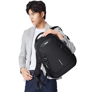 "Image 5 - Unisex Women Men Laptop Backpack Business Travel Bag Boys Girls School Bag Large Capacity USB Port Waterproof Black 19"" H6851"