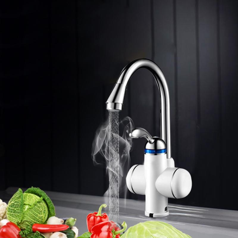 3000W 220V Instant Tankless Electric Hot Water Heater Faucet Kitchen Instant Heating Tap Water Heater Kitchen Supply