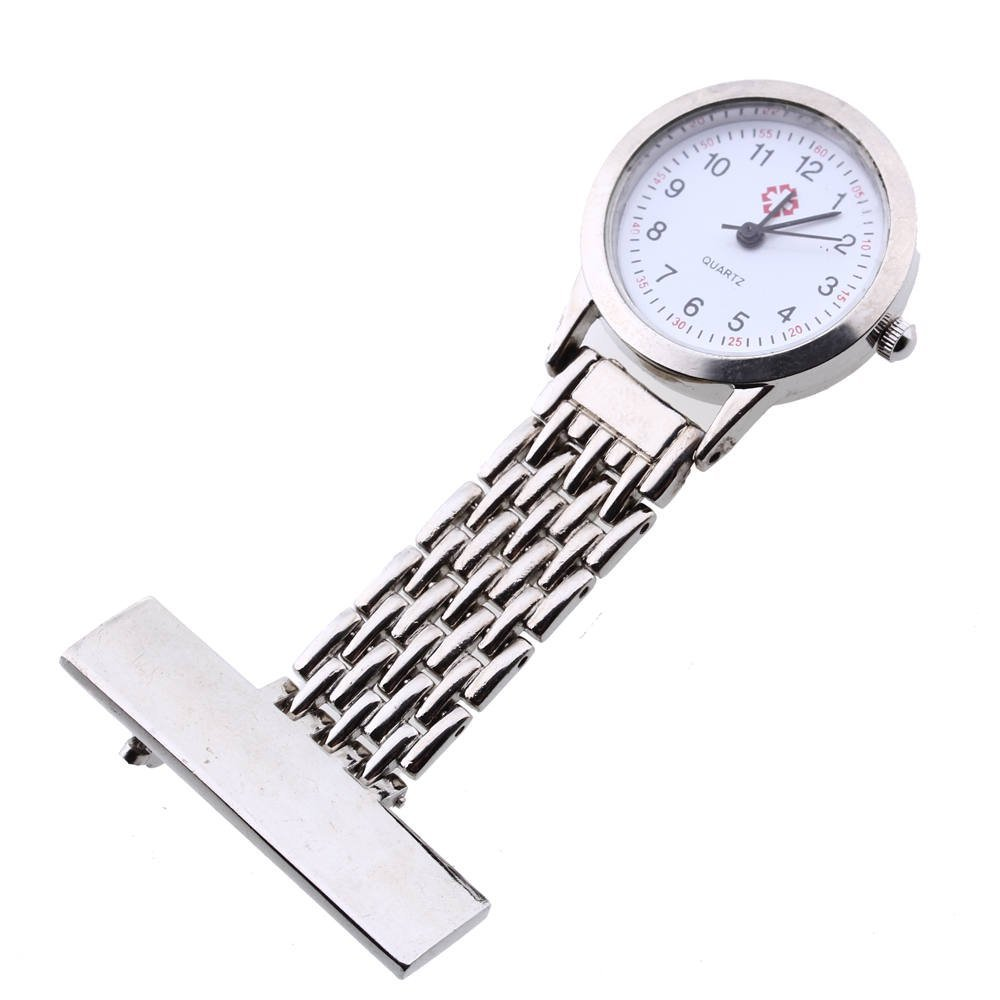 YCYS-Silver Nurse Doctor Brooch Pocket Pendant Quartz Watch