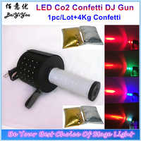 1x New LED Co2 Confetti Paper Shooter Gun Handhold Co2 DJ Gun Confetti Launcher Cannon 2In1 Machine With Hose+4Kg Confetti Paper