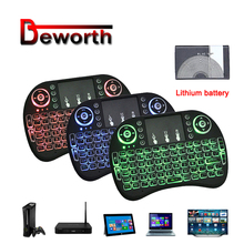 Mini i8 Keyboard Russian English Hebrew Version Backlight I8 Keyboard Remote Touchpad Keyboard Backlit For Android