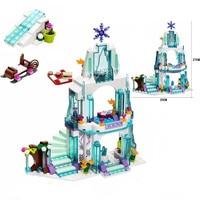 316pcs Girls Friends Elsa S Sparkling Ice Castle Building Blocks Anna Olaf Princess Set Gifts Toys