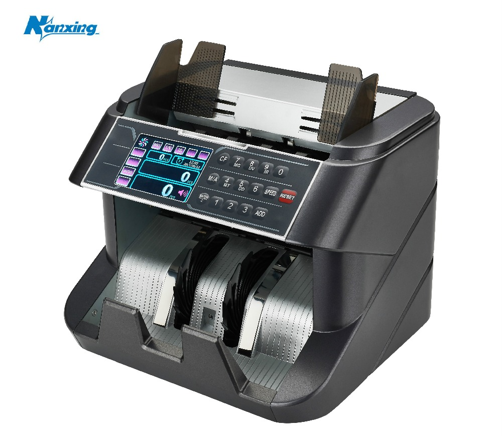 TFT Display Front Loading Bill Counter with UV/MG/IR/MT Detection Money Counting Suitable for Multi-Currency Note Counter fake money detector ir detection eu 8070 suitable for multi currency financial equipment wholesale