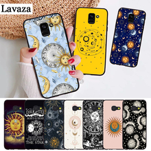 Lavaza Sun Moon Stars Colorful Cute Silicone Case for Samsung A3 A5 A6 Plus A7 A8 A9 A10 A30 A40 A50 A70 J6 A10S A30S A50S
