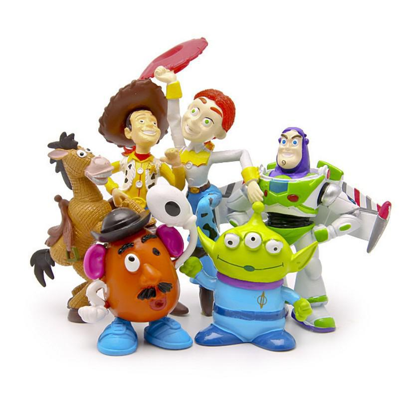 BOHS Toy Story 3 Sheriff Woody Pride Jessie Mr. Potato Head Bullseye Squeeze Toy Aliens Mini Action Figures Toys free shipping toy story 3 sheriff woody posable figure retail box t 020