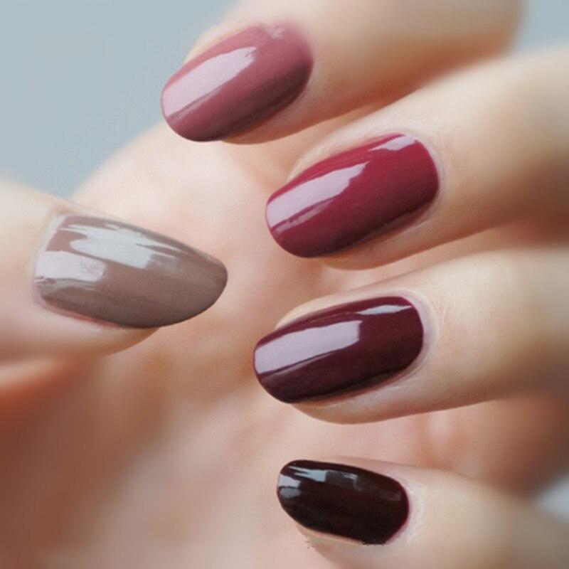 yaoshun wine red serial uv nail