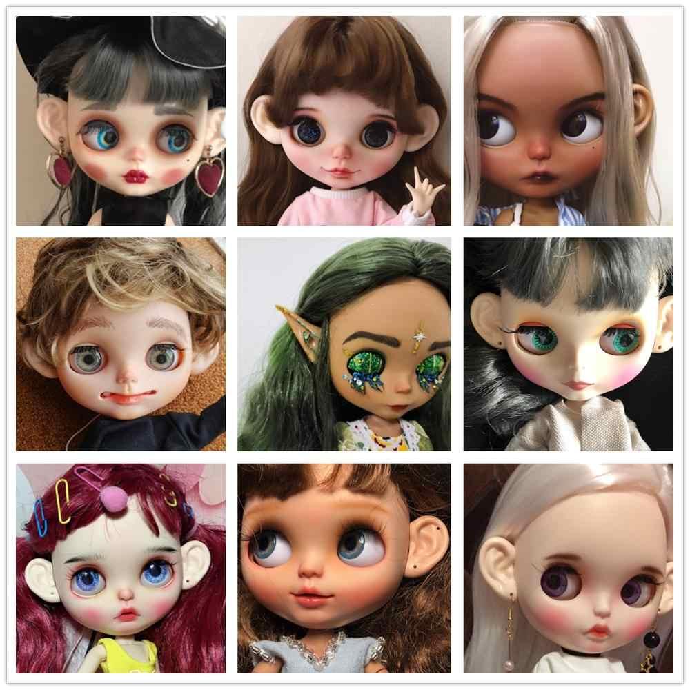 Icy blyth boneca orelhas de brinquedo gelado para diy personalizado, não há necessidade de cortar orelhas originais