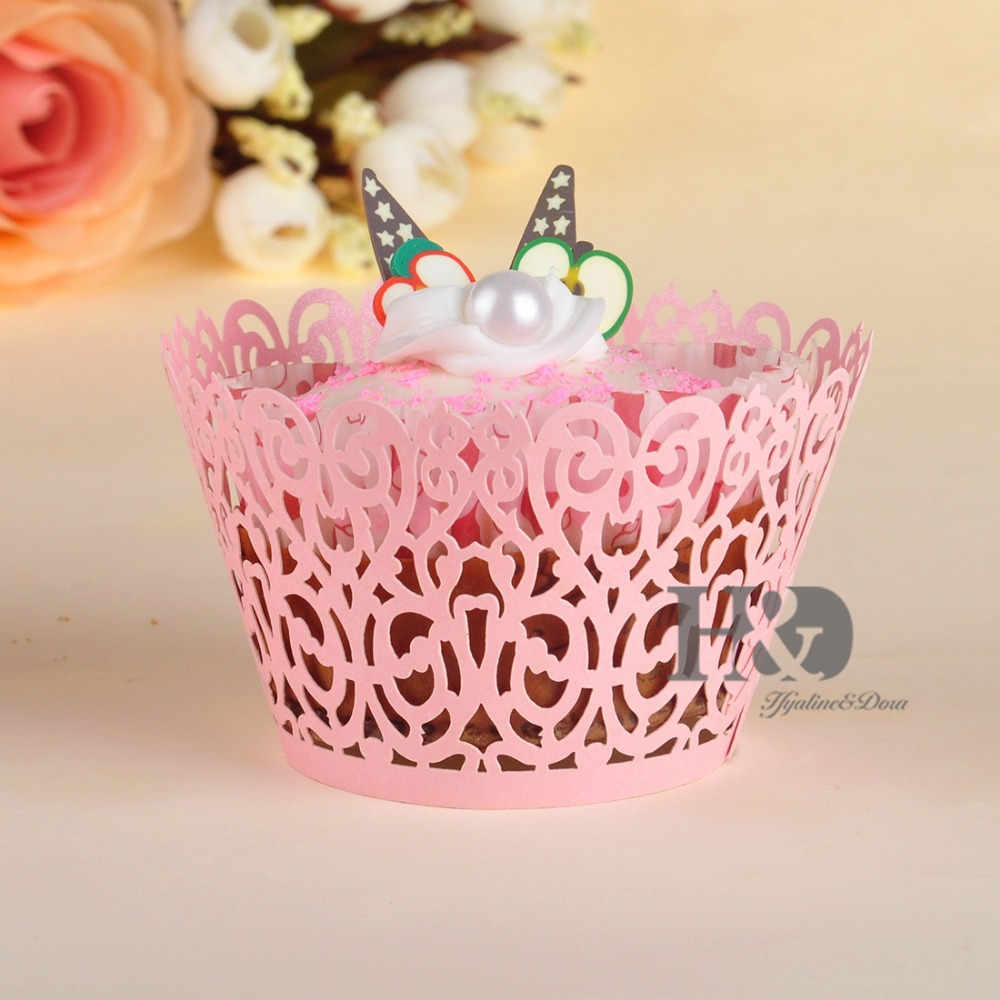 Pink Cloud Hollow Out Cake Paper Wrap Cupcake Wrapper Cupcake Box ...