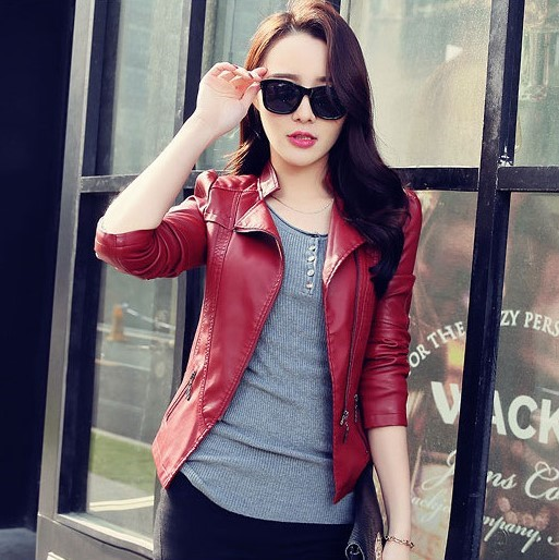 Popular Red Lether Jacket-Buy Cheap Red Lether Jacket lots from ...