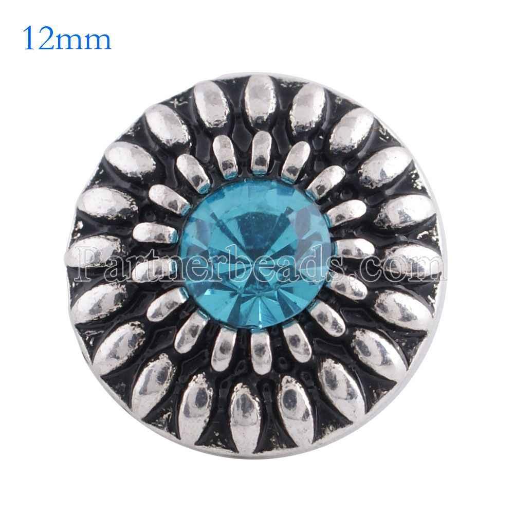 Partnerbeads ラウンドスナップ金属小さな 12 ミリメートルミニバックルスナップジュエリーフィットビーズブレスレット nacklace アクセサリー KS6094-S
