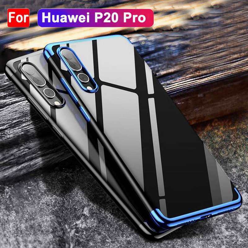 Luxury Plating TPU Colorful Frame Phone Case For Huawei P20 Pro Plus Soft TPU Silicon Shockproof Cover For Huawei P20 Lite Capa