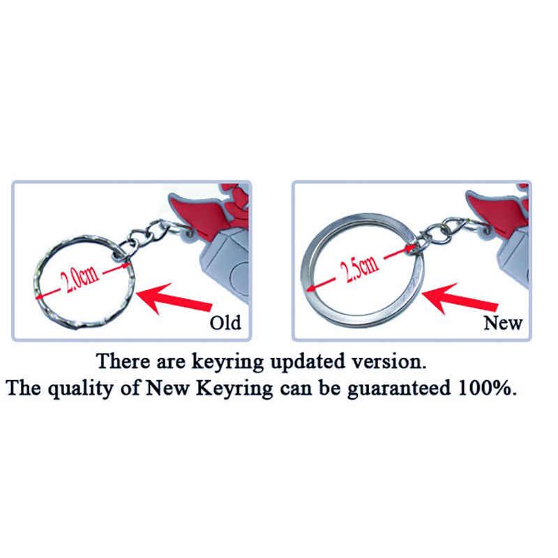 2PCS PVC Keychain Dos Desenhos Animados Mickey Minnie Anime Figura Brinquedo do Miúdo do Anel Chave da corrente Chave chave Titular Moda Presente Trinket sacos de Decoração