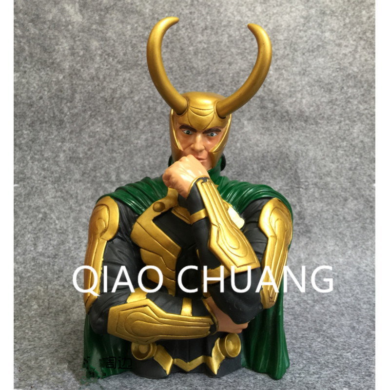 The Avengers 3: Part 1 Loki BUST Saving Box Supervillain Loki Laufeyson Dark Magic PVC Action Figure Bambola G1183