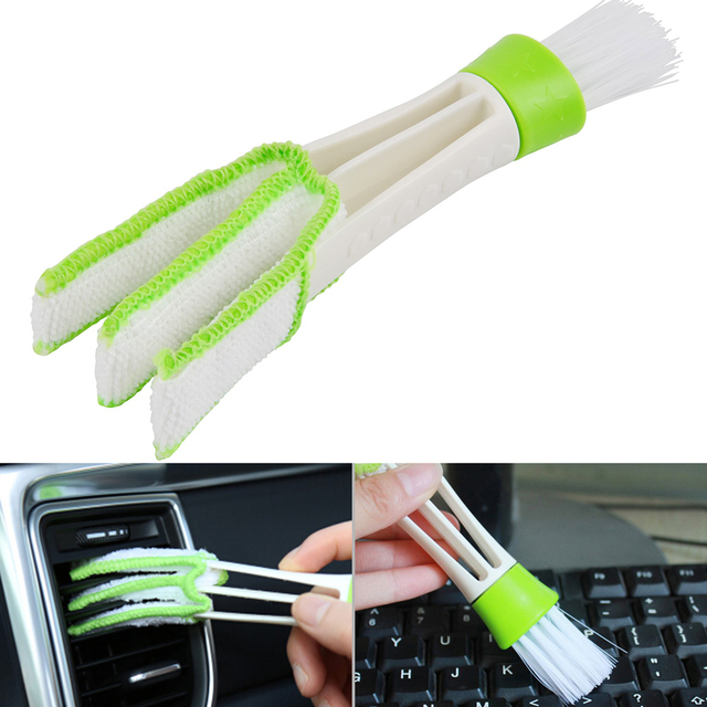 Car Clean Brush Cleaning Accessories Car Auto Air Conditioner Vent Cleaner Blinds Keyboard Dust Computer Car styling Clean Tools