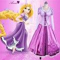Adultos cosplay disfraces de halloween princesa tangled rapunzel sofia top y falda de noche de carnaval party girl dress cs184200