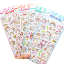 Colorful Cute Unicorn Horse Kawaii DIY Stickers 3D Decorative Stickers Scrapbooking Stick Label Diary Stationery Album Stickers lazy cat meow decorative stationery stickers scrapbooking diy diary album stick label