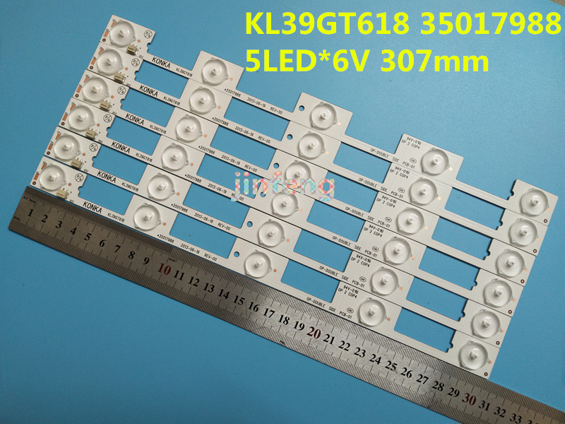 Smart 10pcs Led Backlight Lamp Strip For Konka 39inch Tv Kl39gt618 35017988/35017990 5 Leds*6v 307mm Led 6v Sale Overall Discount 50-70% Computer Cables & Connectors